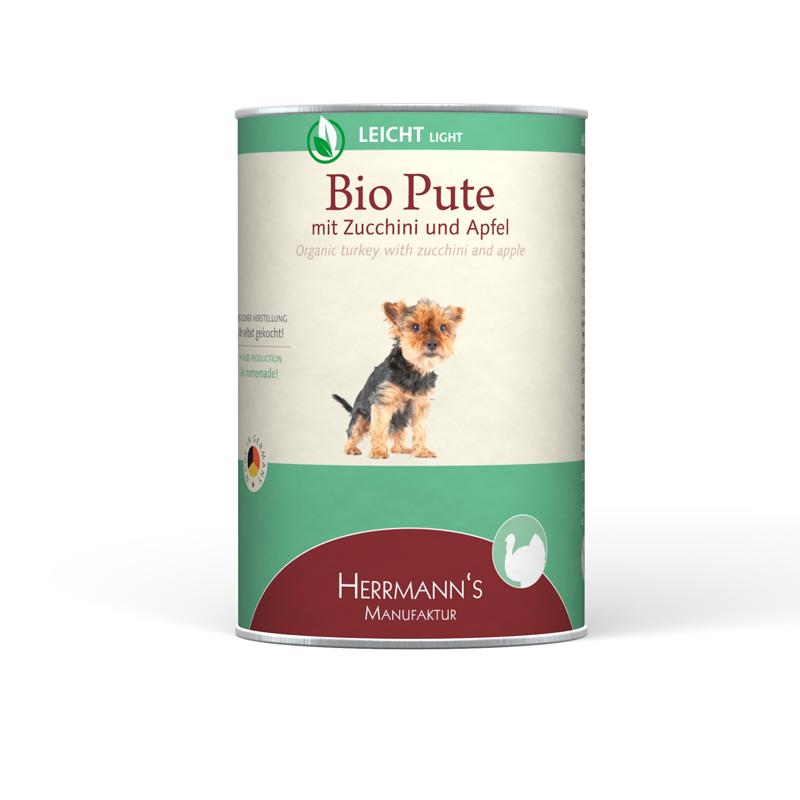 Herrmann's  Bio-Kalkoen met Courgette en Appel 400 g 4047459007088
