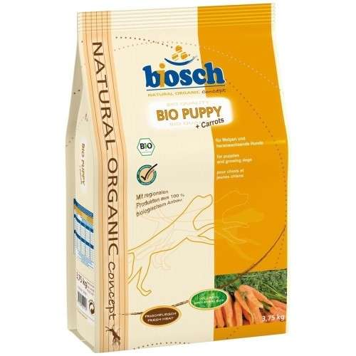 Bosch Natural Organic Concept - Bio Puppy avec Carottes 750 g, 3.75 kg, 11.5 kg essay
