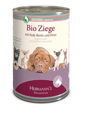 Herrmann's  Gevoelige Bio - Geit met Rode Biet en Gierst 400 g 4047459007002