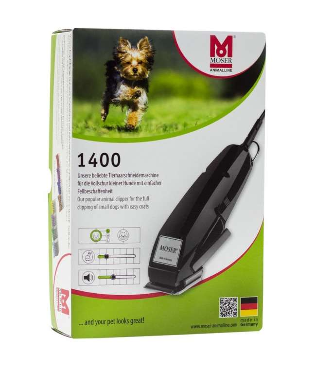 Moser Animalline 1400 Set de Máquina de Afeitar para Animales Negro