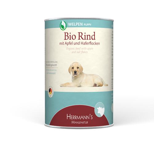 Herrmann's  Bio - Rund met Appel en Havermout & Wortel 150 g, 400 g test