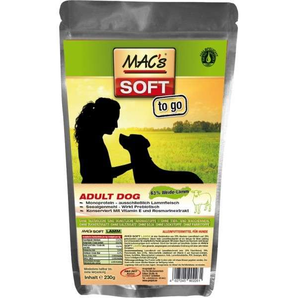 MAC's Soft Adult con Agnello 230 g