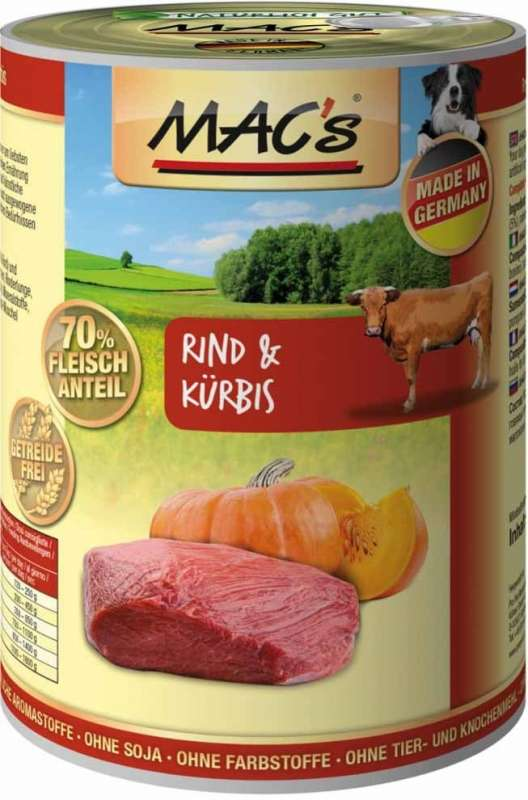 MAC's Dog - Beef & Pumpkin, Canned EAN: 4027245009069 reviews