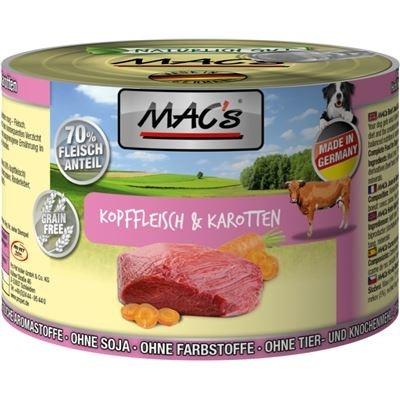 MAC's Dog - Viande de Tête de Bœuf & Carottes 200 g