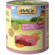 MAC's Dog - Beef Head Meat & Carrots 800 g