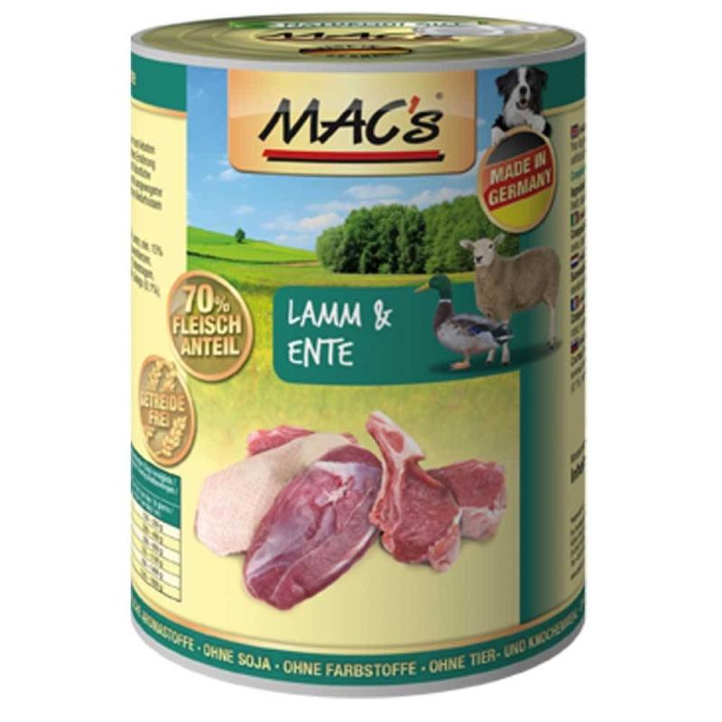 MAC's Dog - Agneau & Canard 800 g, 400 g, 200 g