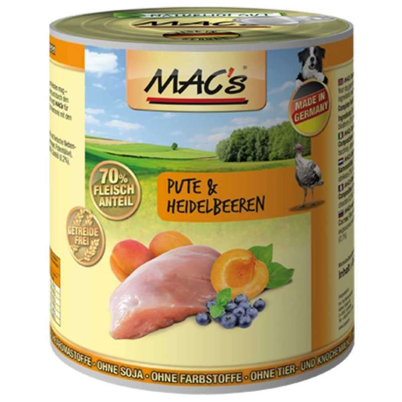 MAC's Dog Turkey & Blueberry 400 g, 800 g, 200 g