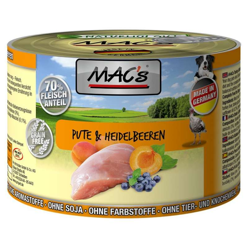 MAC's Dog - Turkey & Blueberry 200 g
