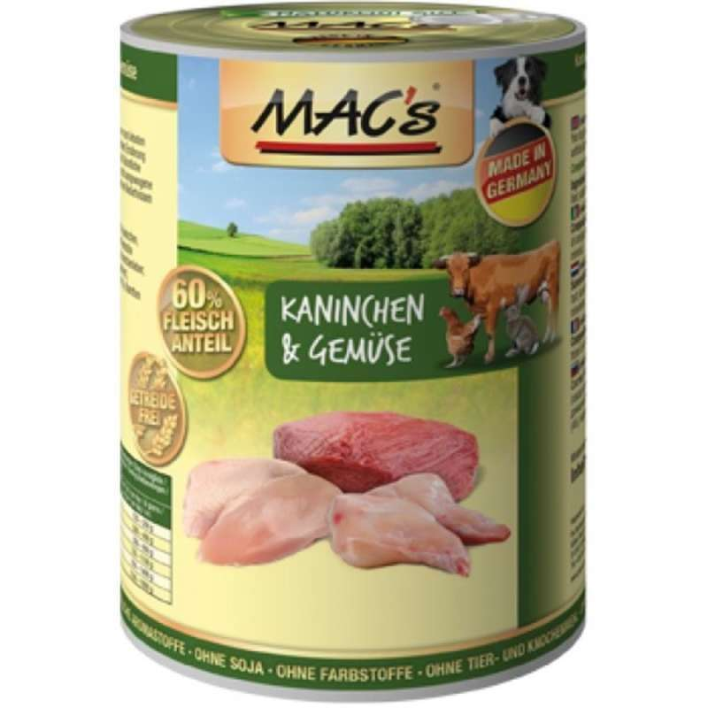 MAC's Dog - Rabbit & Vegetables canned 800 g, 400 g, 200 g