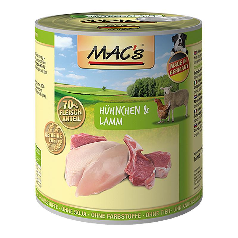 MAC's Dog - Poulet & Agneau 800 g 4027245009076 avis