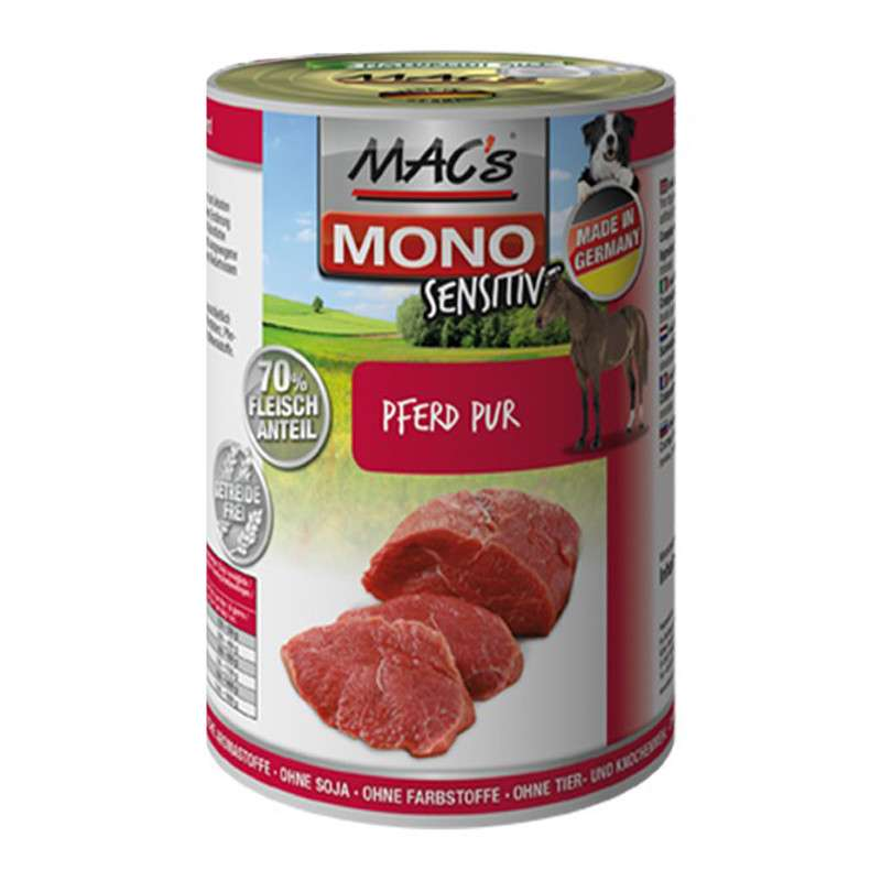 MAC's Dog Mono Sensitive - Pure Horse canned 4027245009724 erfarenheter