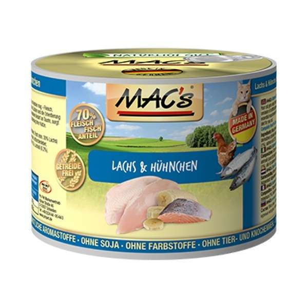MAC's Cat - Salmon & Chicken 200 g, 400 g, 800 g