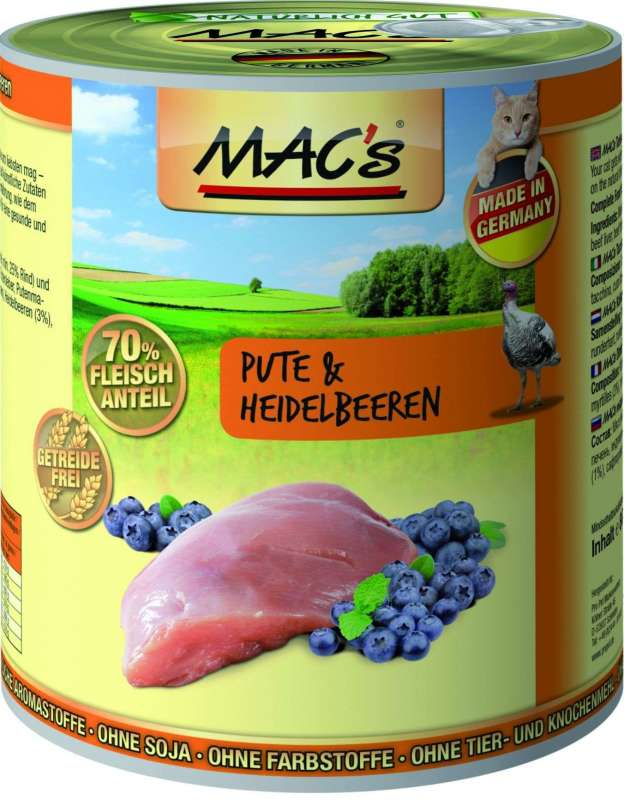 MAC's Cat - Turkey & Blueberry 800 g
