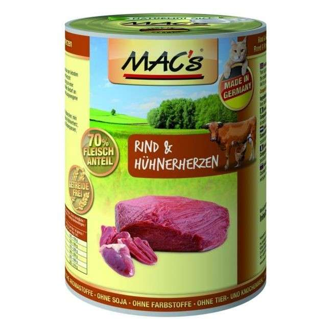 MAC's Cat - Beef & Chicken Hearts EAN: 4027245008024 reviews