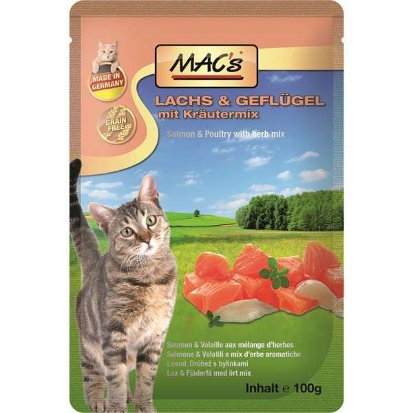 MAC's Pouch - Salmon & Poultry with Cowberry & Herbal Mix 100 g test