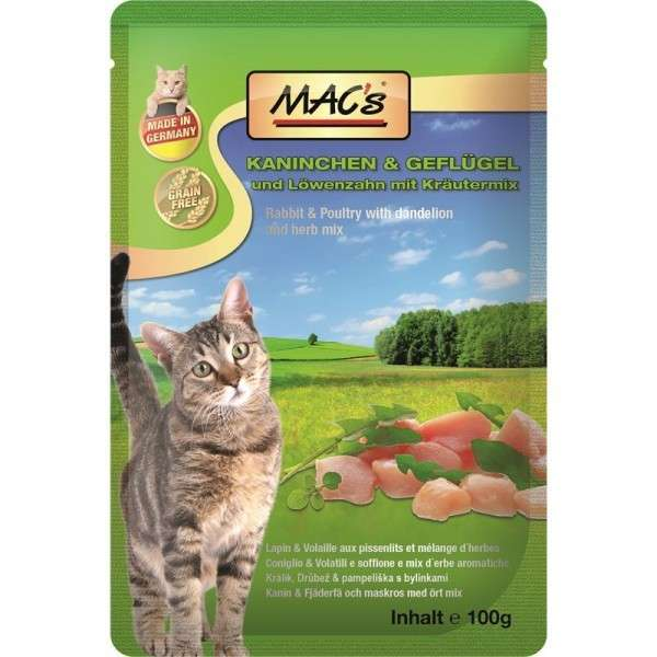 MAC's Pouch - Rabbit & Poultry with Dandelion & Herbal mix 4027245008512 erfarenheter