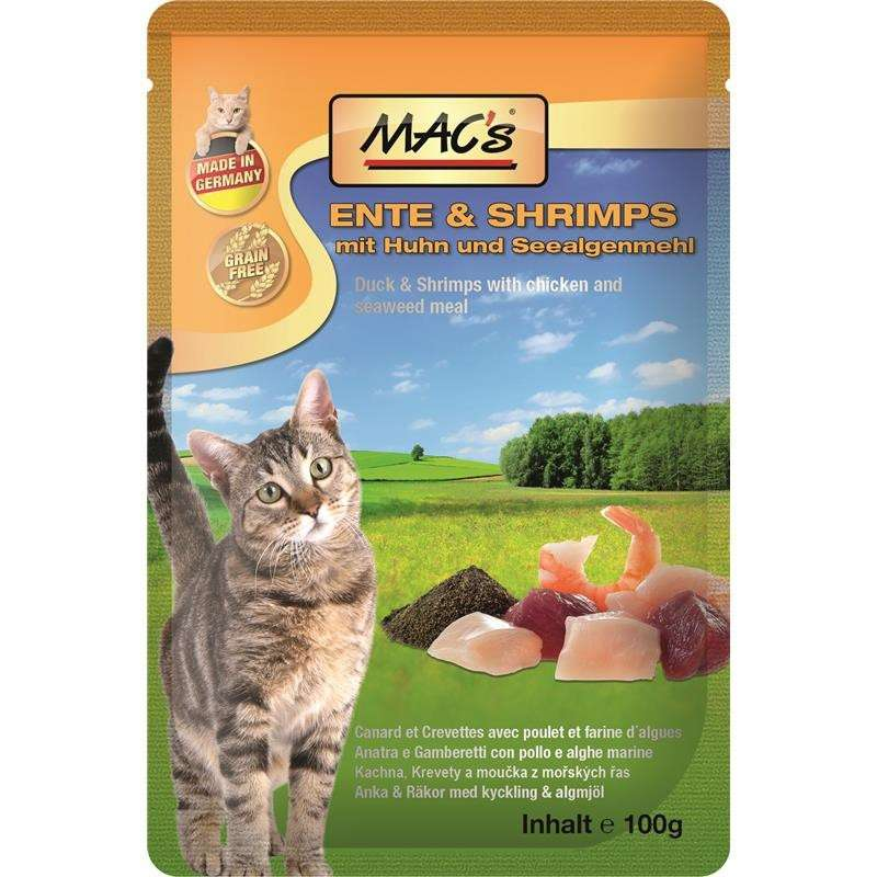 MAC's Pouch - Duck & Shrimps with Chicken & Seeweed Meal 100 g