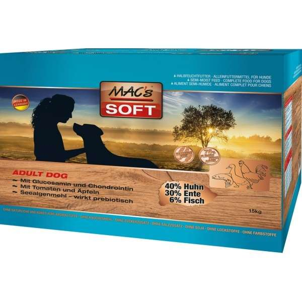 MAC's Soft - Adult Grain free 15 kg, 1.5 kg, 230 g, 3x5 kg