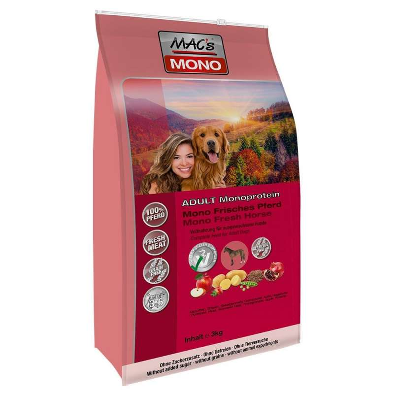 MAC's Mono Sensitive - Fresh Horsemeat 3 kg