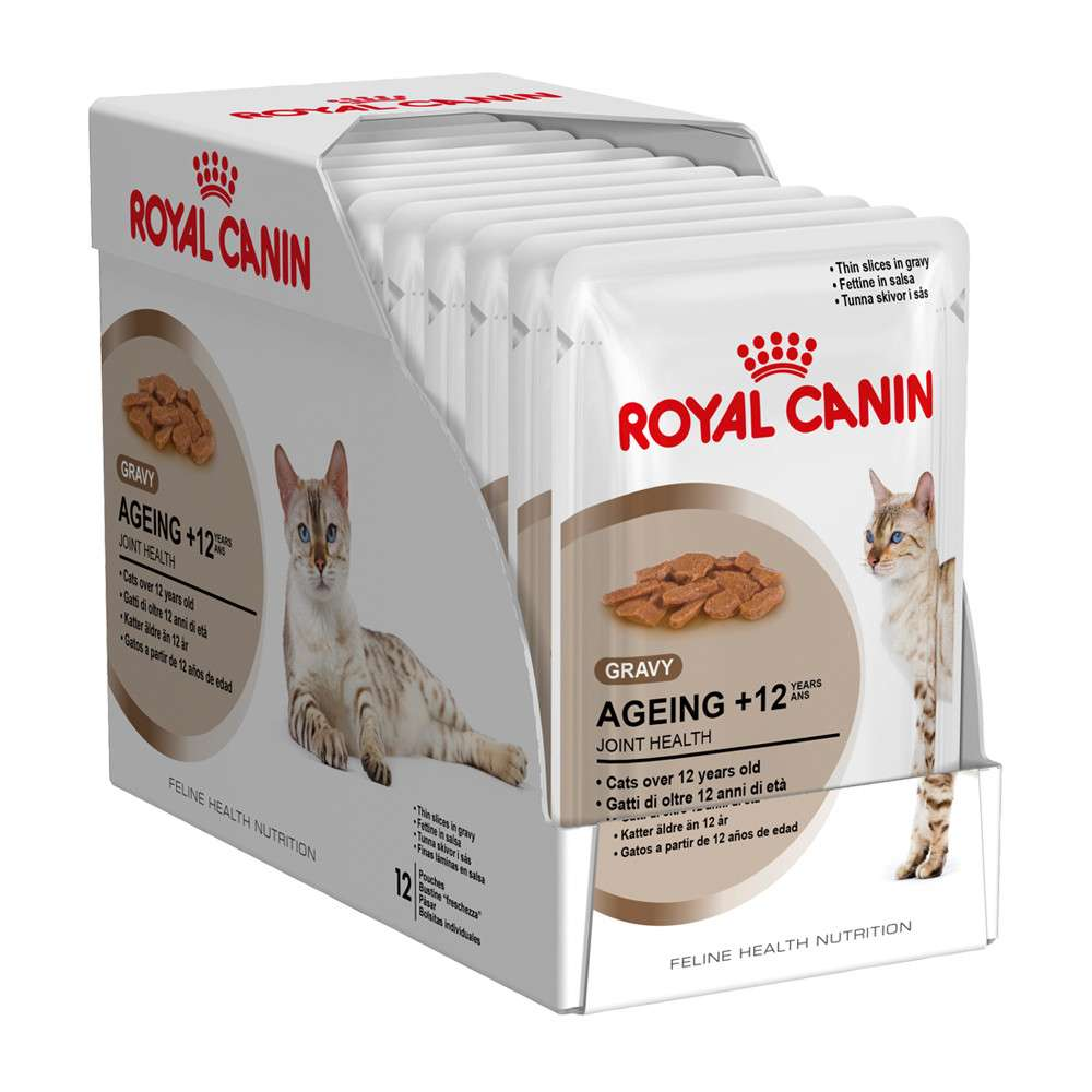 Royal Canin Feline Health Nutrition - Multipack Ageing +12 i Saus 12x85 g kjøp billig med rabatt