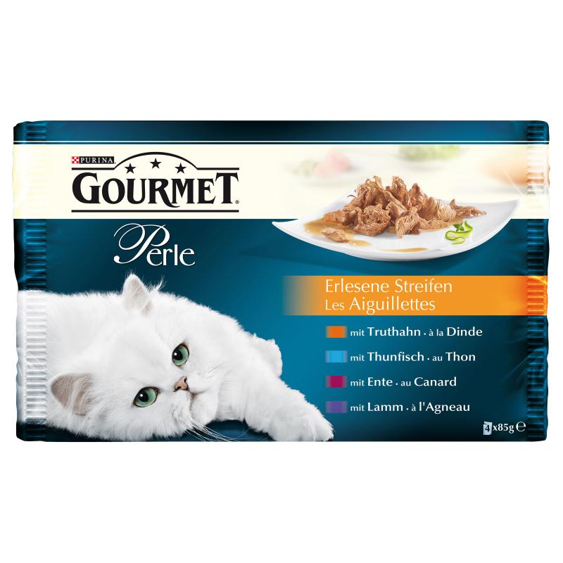 Purina Gourmet Perle (Kalkoen, Tonijn, Eend, Lam) Multipack 4x85 g