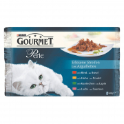 Purina Gourmet Perle Udsøgte bidder (oksekød, kanin, laks, kylling) 4x85 g