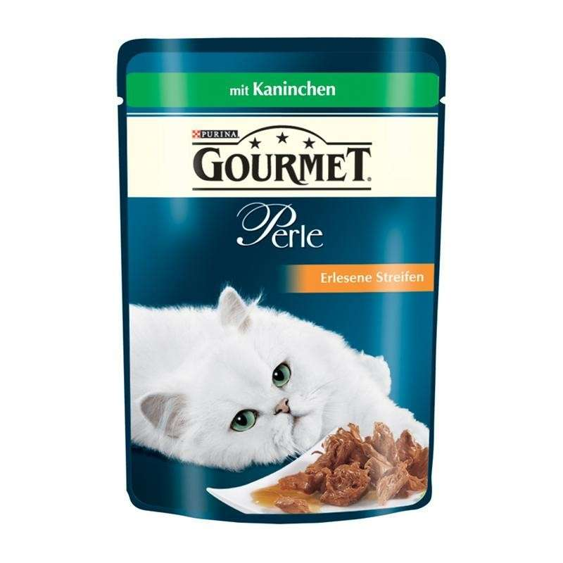 Gourmet Perle - Mini Fillets in Gravy with Rabbit by Purina 85 g buy online