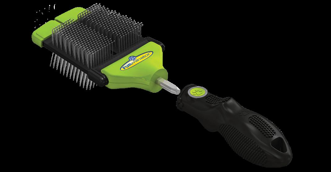 FURminator FURflex Cepillo Doble con Cardas  Lima