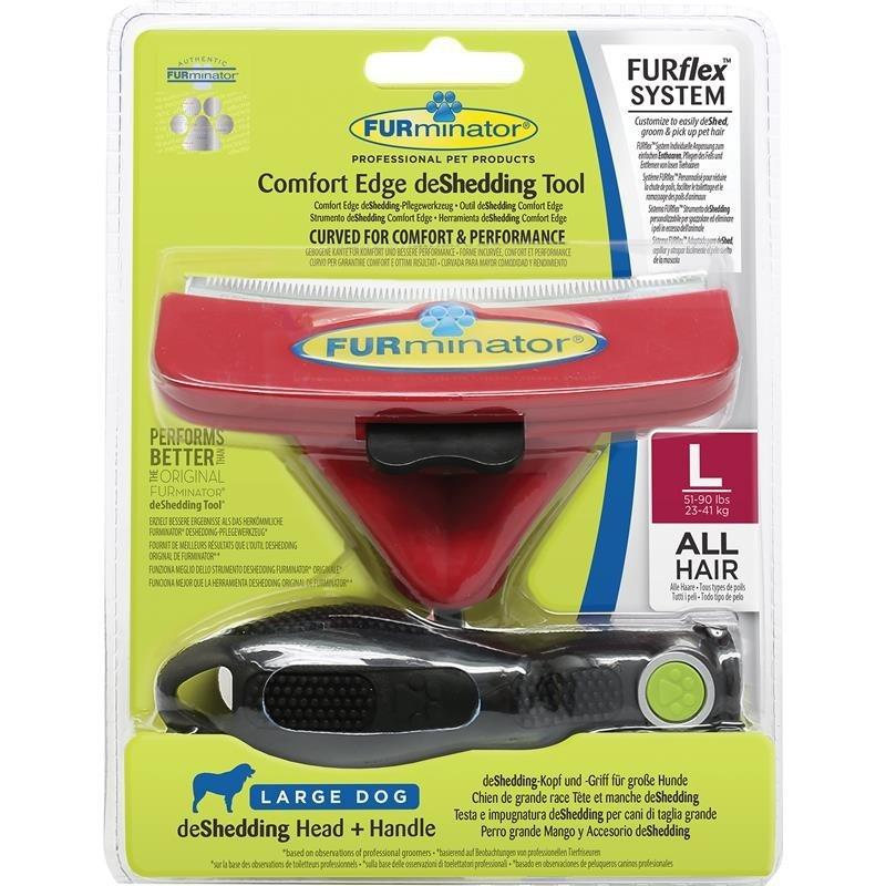 FURminator FURflex deShedding Comfort Edge Head & Handle L