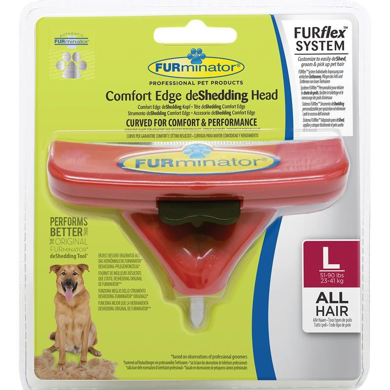 FURminator FURflex deShedding Comfort Edge Head para Perros L Rojo