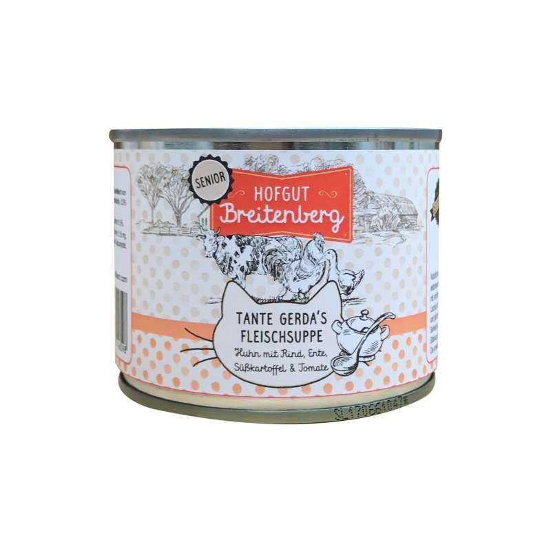 Landfleisch Hofgut Breitenberg Senior Chicken with Beef, Duck, Sweet potato & Tomato 180 g 4003537416098 ervaringen