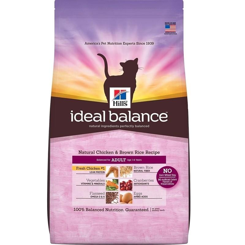 Hill's Ideal Balance Feline - Adult med Kylling og Brune Ris 4 kg, 300 g, 2 kg