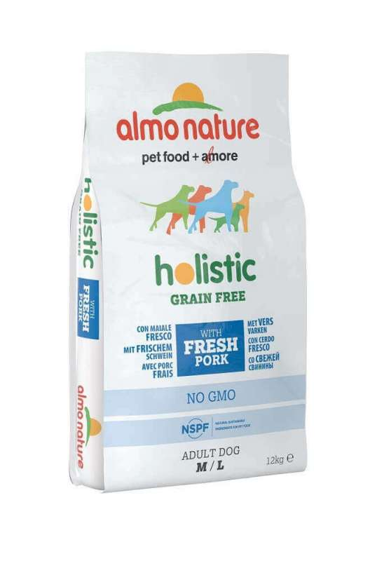 Almo Nature Holistic Grain Free, Medium + Large - Maiale e patate 12 kg