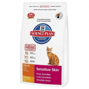 Science Plan Feline - Adult Sensitive Skin met Kip 5 kg