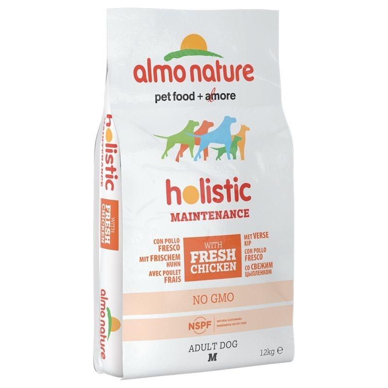 Almo Nature Holistic Adult Dog Medium Kip en Rijst 12 kg, 2 kg