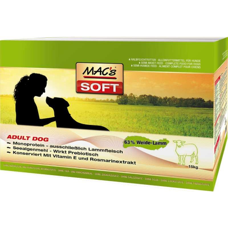 MAC's Soft Adult con Agnello 3x5 kg