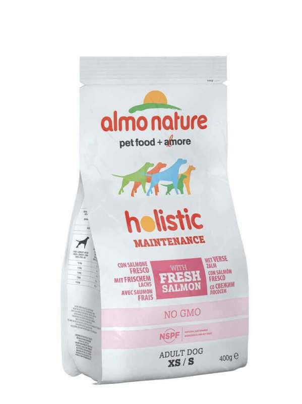 Almo Nature Holistic Adult Zalm & Rijst Small 2 kg, 400 g