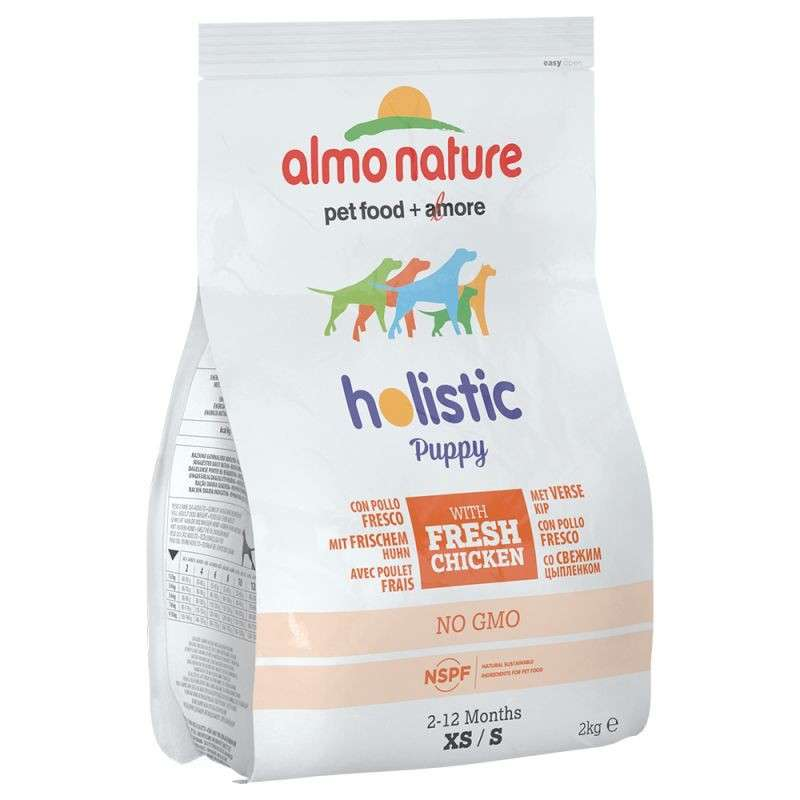 Almo Nature Holistic Puppy Kip en Rijst Small 400 g, 2 kg test