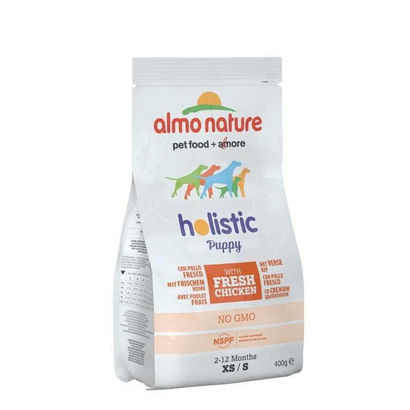 Almo Nature Holistic Puppy Kip en Rijst Small 400 g 8001154121872