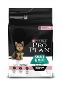 Purina Pro Plan Small & Mini Puppy - Optiderma runsaasti Lohta 3 kg