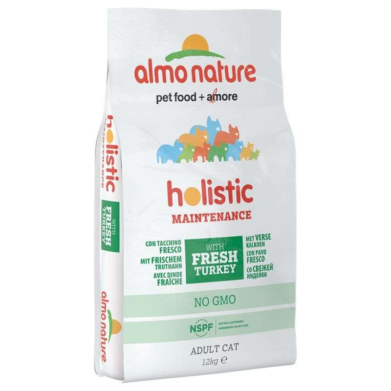 Almo Nature Holistic Adult Cat Dinde et Riz 12 kg