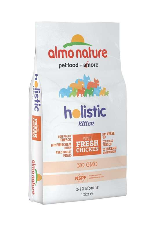 Almo Nature Holistic Kitten Chicken and Rice 12 kg, 2 kg, 400 g
