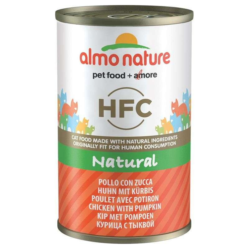 Almo Nature HFC Natural Kip & Pompoen 140 g 8001154120264
