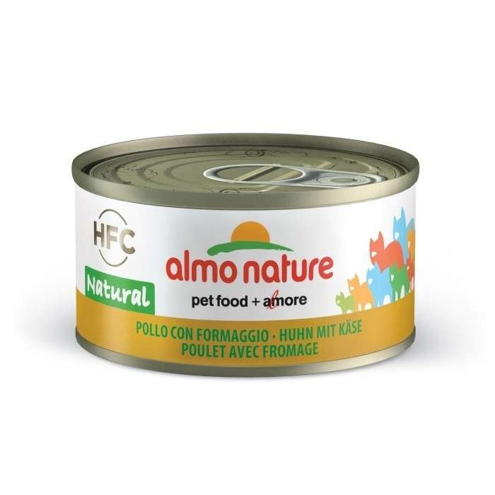 Almo Nature HFC Natural met Kip & Kaas 70 g 8001154001648