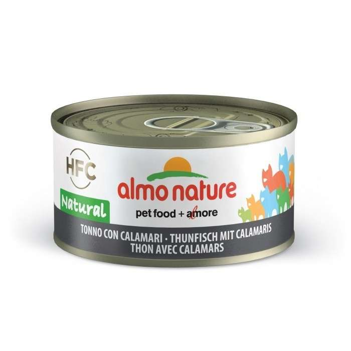 Almo Nature HFC Natural Tonijn en Inktvis 70 g