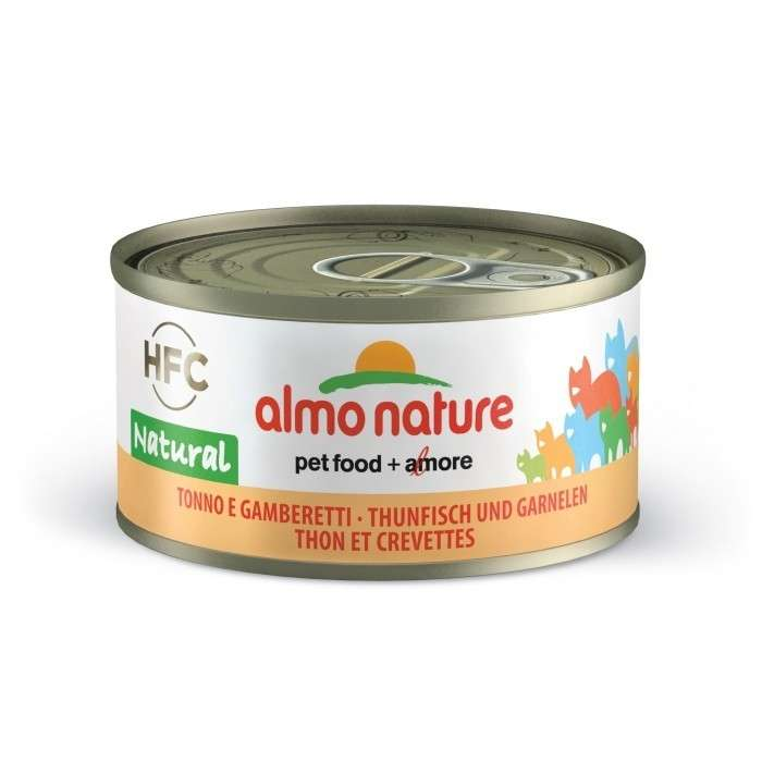 Almo Nature HFC Natural Tonijn en Garnalen 70 g 8001154001655