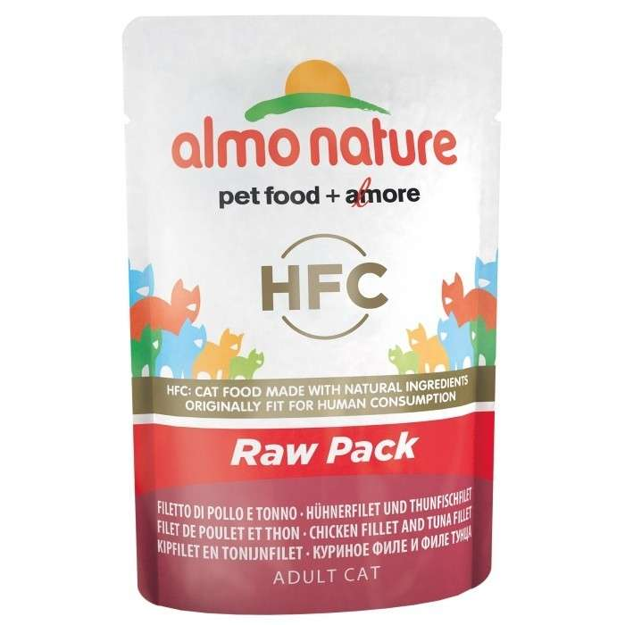Almo Nature HFC Raw Pack Chicken Fillet and Tuna Fillet EAN: 8001154126334 reviews