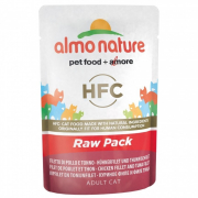 Almo Nature HFC Raw Pack Filet de poulet & filet de thon 55 g