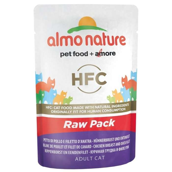 Almo Nature HFC Raw Pack Chicken Breast and Duck Fillet 55 g