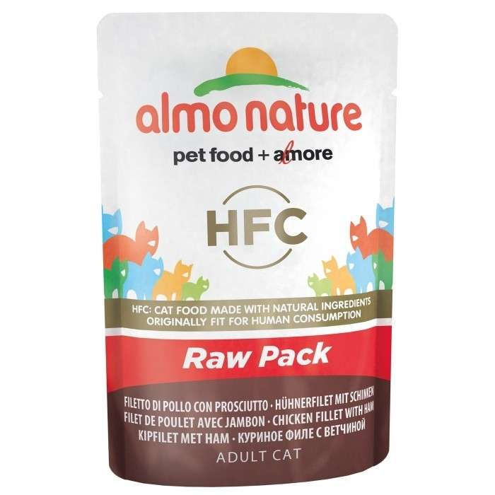 Almo Nature HFC Raw Pack Chicken Fillet with Ham 55 g